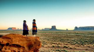 blog native americans overlooking monument valley