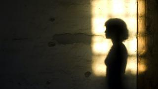 shadow of woman in doorway